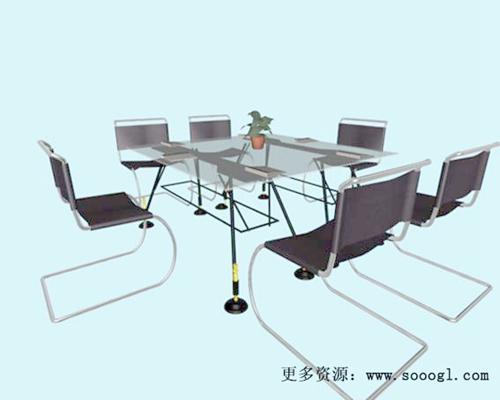 会议桌23D模型【ID:217122397】