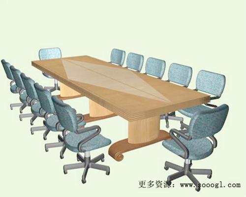 会议桌43D模型【ID:217123303】