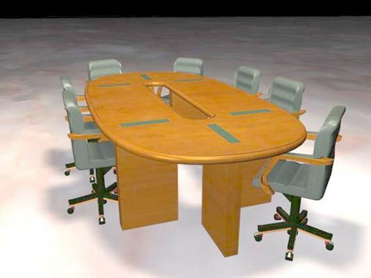 会议桌113D模型【ID:217123319】