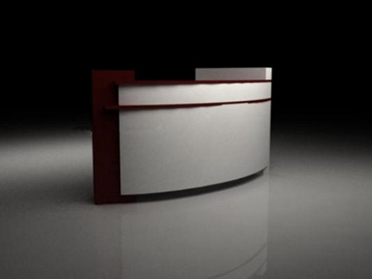 前台桌13D模型【ID:217138534】