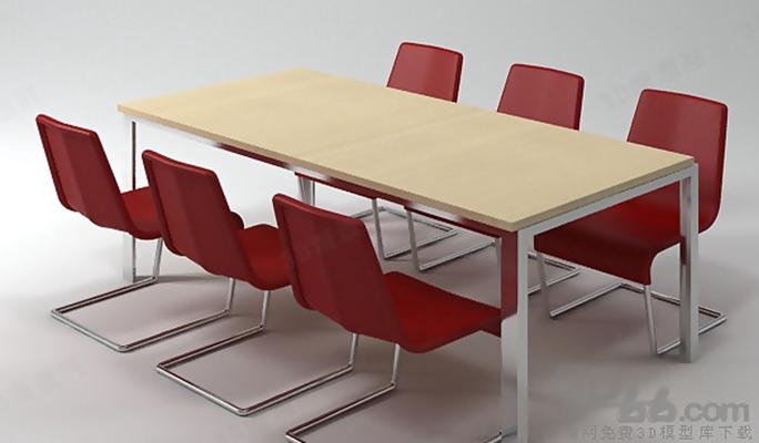 会议桌13D模型【ID:217155353】