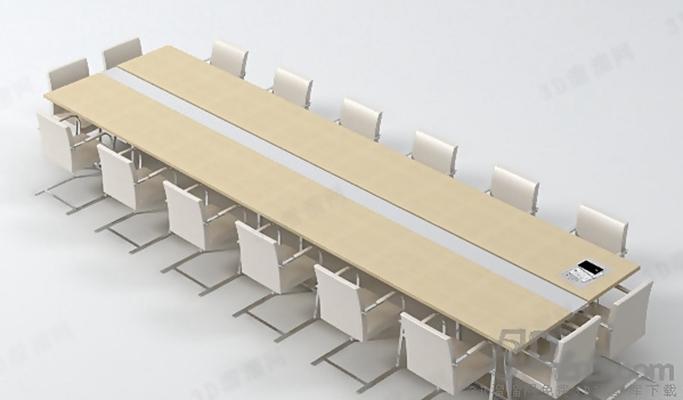 会议桌23D模型【ID:217155355】