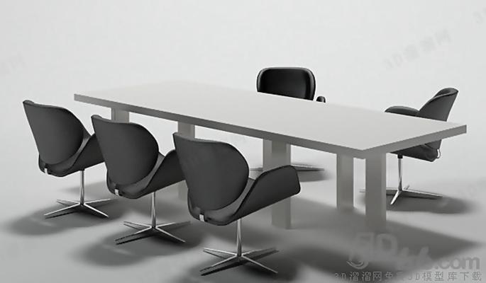 会议桌73D模型【ID:217155363】