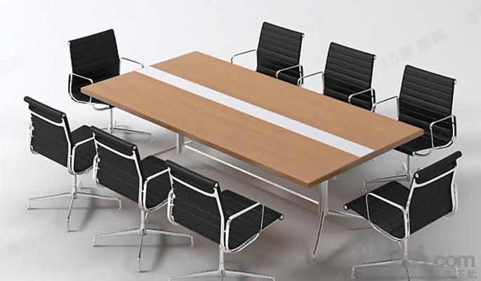 会议桌83D模型【ID:217155366】
