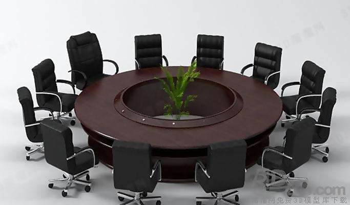 会议桌103D模型【ID:217155377】