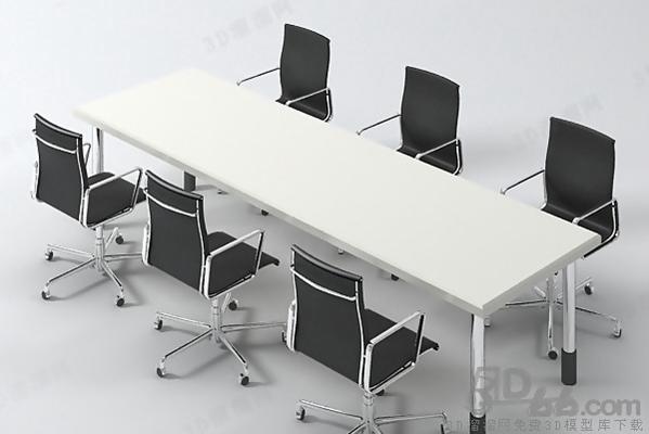 会议桌113D模型【ID:217155380】
