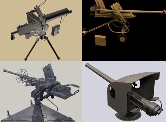 大炮23D模型【ID:217164960】