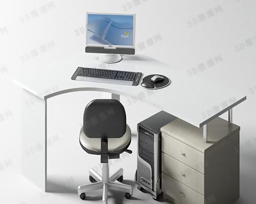 电脑桌13D模型【ID:217214079】