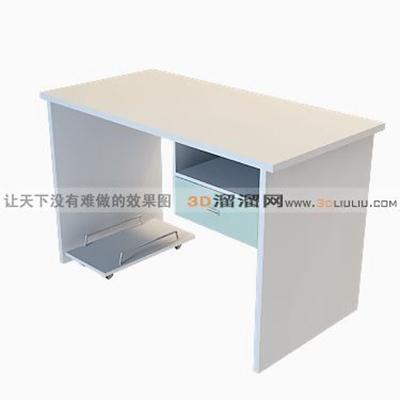 电脑桌63D模型【ID:217214086】