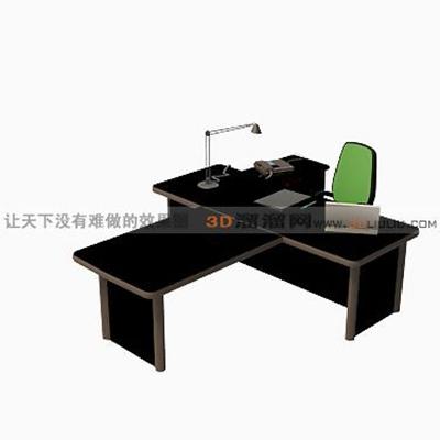 电脑桌163D模型【ID:217215014】