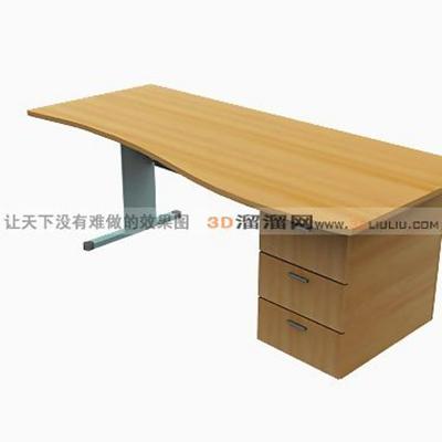 电脑桌193D模型【ID:217215017】