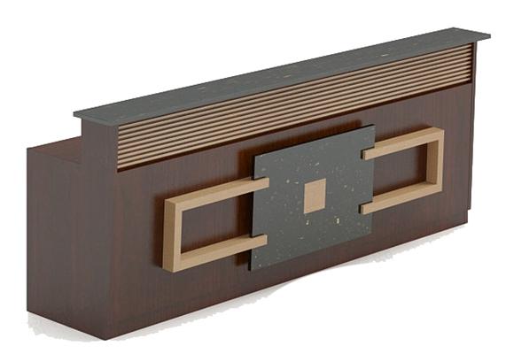 前台桌63D模型【ID:217235585】