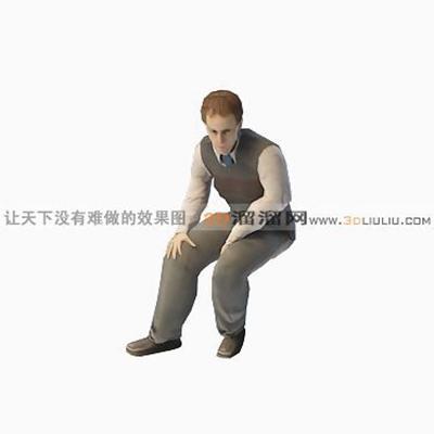 男人3D模型【ID:217239108】