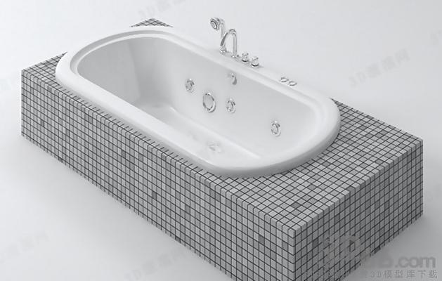 浴缸123D模型【ID:217256056】