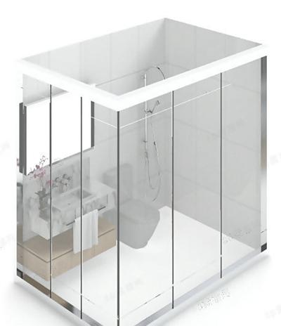 淋浴间13D模型【ID:217257577】