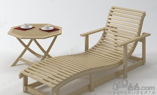躺椅13D模型【ID:217271675】