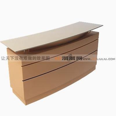 前台桌43D模型【ID:217320585】