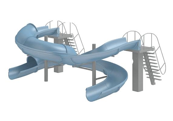 儿童滑梯23D模型【ID:217337428】