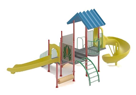 儿童滑梯43D模型【ID:217337433】