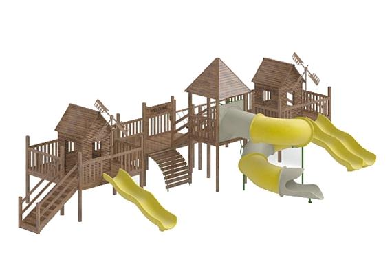 儿童滑梯143D模型【ID:217337460】