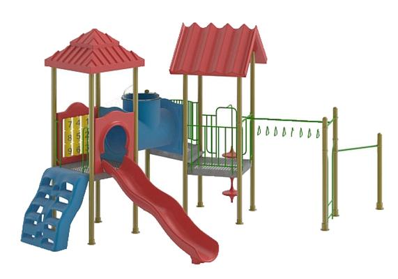 儿童滑梯153D模型【ID:217337463】