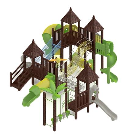 儿童滑梯163D模型【ID:217337464】
