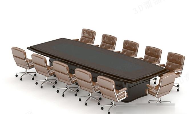 会议桌13D模型【ID:217364340】