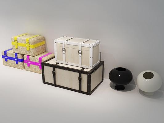木艺箱子3D模型【ID:217499407】