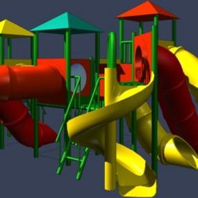 彩色塑料儿童滑梯3D模型【ID:217534426】