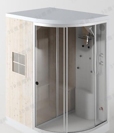 淋浴间3D模型【ID:217576591】