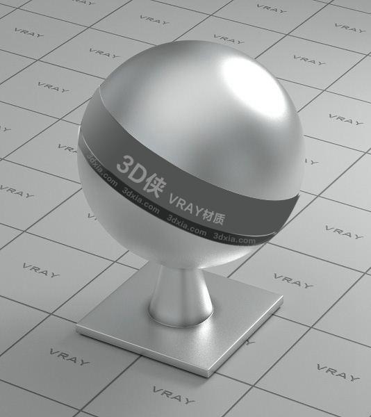銀色金屬Vray材質【ID:736419607】