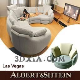 单人沙发A366-3DS格式3D模型【ID:21823】