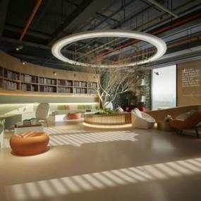 书吧图书馆3D模型【ID:828131217】