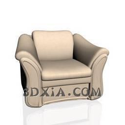 单人沙发A389-3DS格式3D模型【ID:21848】