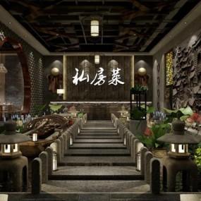 酒店大厅3D模型【ID:427953215】