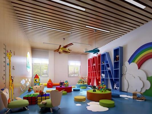 幼儿园3D模型【ID:527999868】