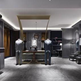 西装店3D模型【ID:528001472】