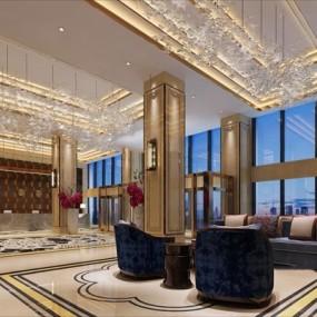 酒店大堂3D模型【ID:427946280】