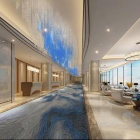 酒店大厅3D模型【ID:427950256】