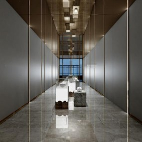 新中式展厅3D模型【ID:528001478】