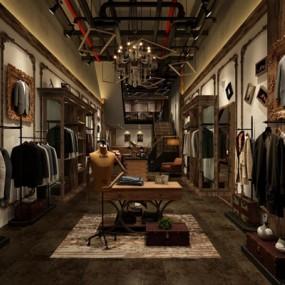 服装店3D模型【ID:528001496】