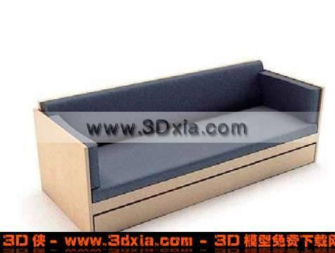 普通简约的3D多人沙发模型下载3D模型【ID:2192】