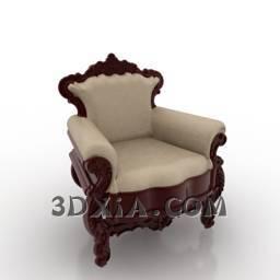 单人沙发A97-3DS格式3D模型【ID:21971】