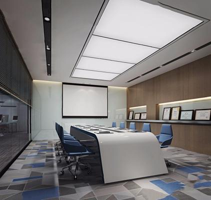 现代办公会议室3D模型【ID:728122861】
