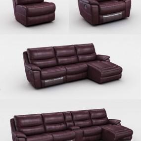 现代组合沙发3D模型【ID:126226070】