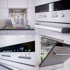 现代厨房洗碗机3D模型【ID:827815319】