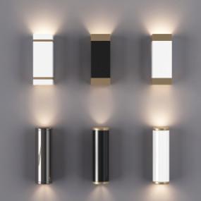现代金属壁灯组合3D模型【ID:527798970】