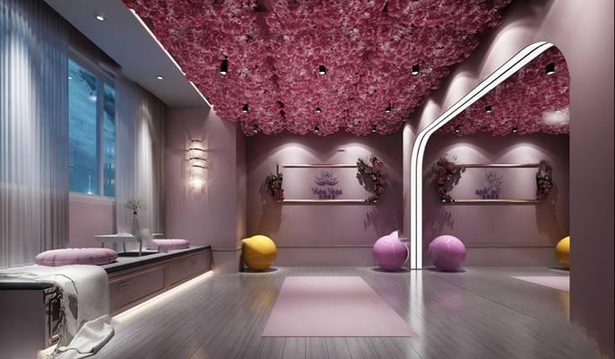 瑜伽室3D模型【ID:420603570】