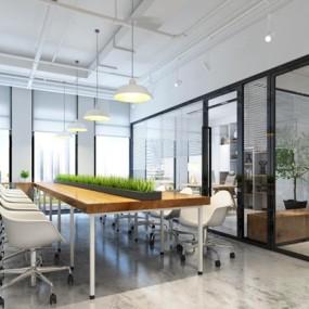 现代办公室3D模型【ID:728070648】
