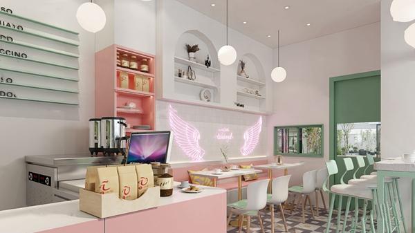 北歐咖啡店3D模型【ID:347686939】